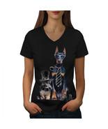 Sir Cute Funny Dog Shirt Puppy Love Women V-Neck T-shirt - $12.99+