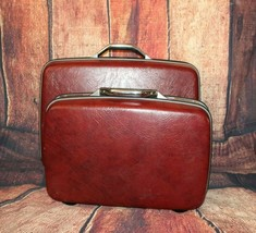 Vintage set of 2 Samsonite Silhouette Luggage Suitcase Hard Shell His an... - $38.80
