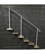 7 Foot Crown Molding Stair Handrail | Base Plate Posts | Steel Grab Rail  - $265.00