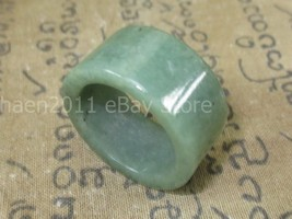 Magic Blessed 100 % Green Jade Stone Ring Luck & Protective Thai Buddha Amulets - $7.99