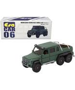 Mercedes Benz G63 AMG 6x6 Pickup Truck Green 1/64 Diecast Model Car by E... - $26.38
