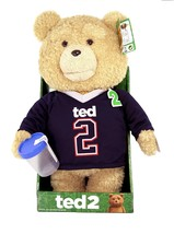 "TED 2 Talking  Animated Bear Explicit Doll in Jersey, 16"" NEW - $40.82"