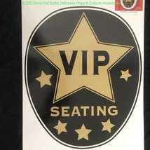 Hollywood Star Toilet Topper-VIP SEATING-Party Sticker Cling Bathroom De... - $6.90