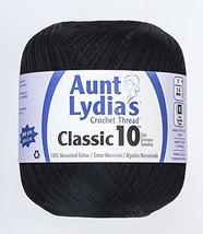 Aunt Lydia 151.0012 Value Crochet Thread, Black - $6.10