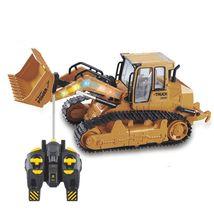 RC Bulldozer 6CH Remote Control Simulation Truck Construction Model Vehi... - $95.99