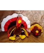 """Vintage Ty Beanie Babies """"Gobbles the Turkey"""" plus turkey keychain, 1996 - $18.00"""