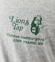 LIONS TAP Famous Hamburgers Bar Mens T Shirt Gray  Eden Prairie MN Size XXL - $15.13