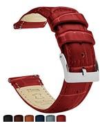 20mm Crimson Red - Barton Alligator Grain - Quick Release Leather Watch ... - $32.88