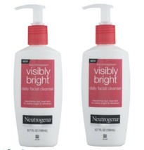 Lot of 2 Neutrogena Visibly Bright Daily Facial Cleanser 6.7 oz Discontinued - $73.92