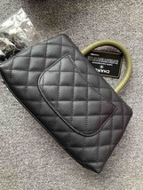 AUTHENTIC BRAND NEW CHANEL QUILTED BLACK CAVIAR SMALL COCO PYTHON HANDLE BAG RHW image 2