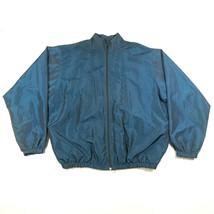 Vintage 80s 90s Wise Guy Surf Style un Taille Bleu Irisé Veste Fermeture... - $37.05