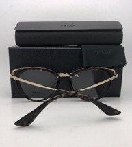 New PRADA Eyeglasses VPR 53U-F VYT-1O1 52-19 145 Burgundy Clear and Gold Cat Eye - $249.95