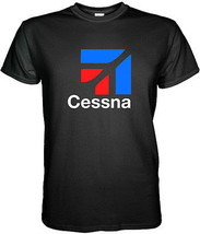 Cessna Aircraft Company Logo Men's Black T-Shirt Size S M L XL 2XL 3XL - $15.80+