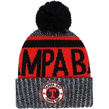 Tampa Bay Men's Winter Knit Original Pom Beanie (Black/Red) - $16.95