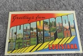 Postcard La Big Letter Greetings from Shreveport Louisiana   - $18.70