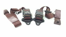 Set of 2 Red Front Seat Belts OEM 89 90 91 92 93 Cadillac Allante - $158.76
