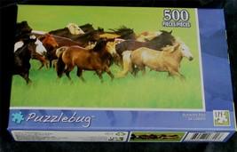BRAND NEW FACTORY SEALED 500 PiecePuzzlebug Jigsaw Puzzle Running Free - $5.93