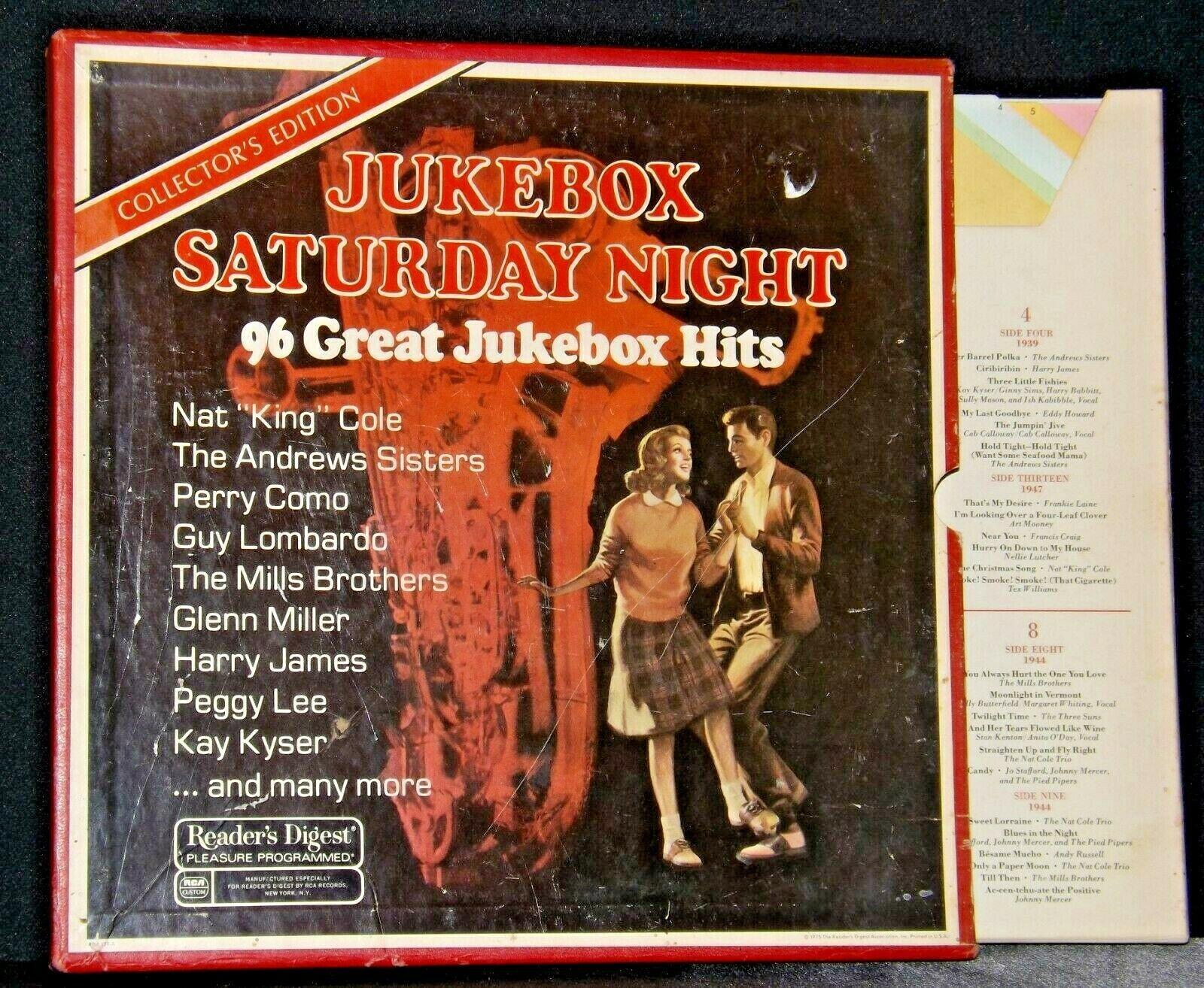 Jukebox Saturday Night Record 96 Greatest Jukebox Hits AA-191748 Vintage Colle