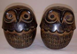 "Japan Brown Owl Salt Pepper Shakers 3 1/2"" - $14.84"