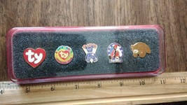 Boxed set of 5 TY collectible Beanie Baby pins   - $8.99