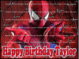 SPIDERMAN: Personalized Edible Image Cake Topper - $9.78