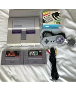 ☆ Super Nintendo System Console Bundle With 2 SNES Games Lot Tested Works ☆ - $54.00
