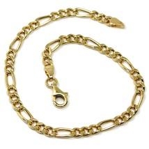 Bracelet or Jaune 18K 750, Chaîne Figaro Alterné 3+1, Épaisseur 3.5mm image 1