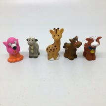 5 Fisher Price Little People Farm & Zoo Animals Horse Cow Goat Flamingo ... - $13.09
