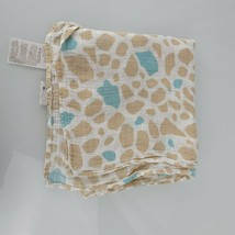 Aden + Anais Baby Boy Cotton Muslin Blanket White Tan Brown Blue Giraffe... - $34.64