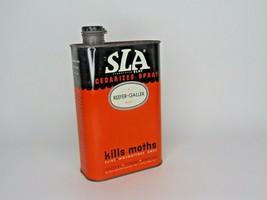 "Vintage SLA Cedarized Spray Moth Killer Tin w/contents reffer galler 8"" ... - $19.79"
