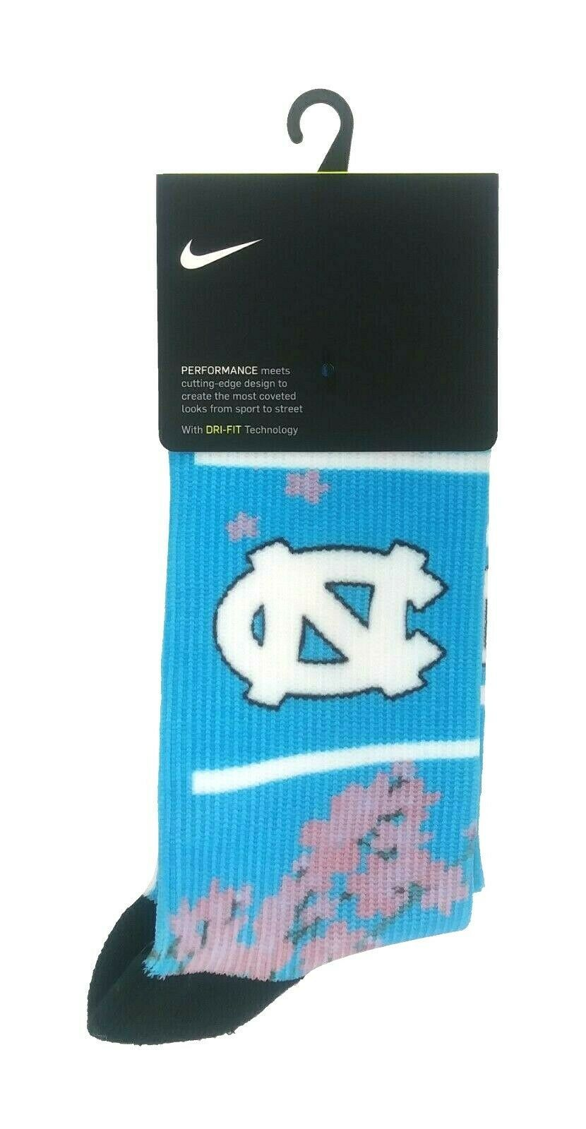 Primary image for NIKE Dri-Fit Performance North Carolina Tar Heels Socks sz M Medium (6-8) Blue
