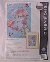 Cross Stitch Flowers Watering Cans Stamped Birds Blooming Kit Dimensions Garden - $18.80