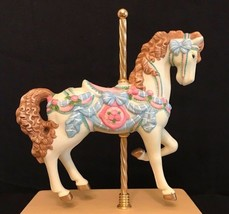 Carousel Horse MUSIC BOX, 1993 San Francisco Music Box Company, Porcelai... - $12.38
