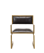 Contemporary Black Leather Arm Chair - €1.139,47 EUR