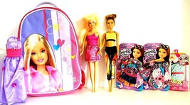 BARBIE BACKPACK COMBO – Backpack, 2 Barbie Dolls with 4 additional outfits - $19.75