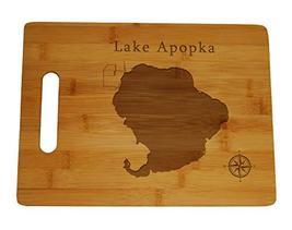 Lake Apopka Map Engraved Bamboo Cutting Board 9.75x13.75 inches Florida - $34.64