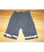 Baby Girl's Size 12 Months Black White Polka Dot Capris Cropped Pants EUC - $10.00