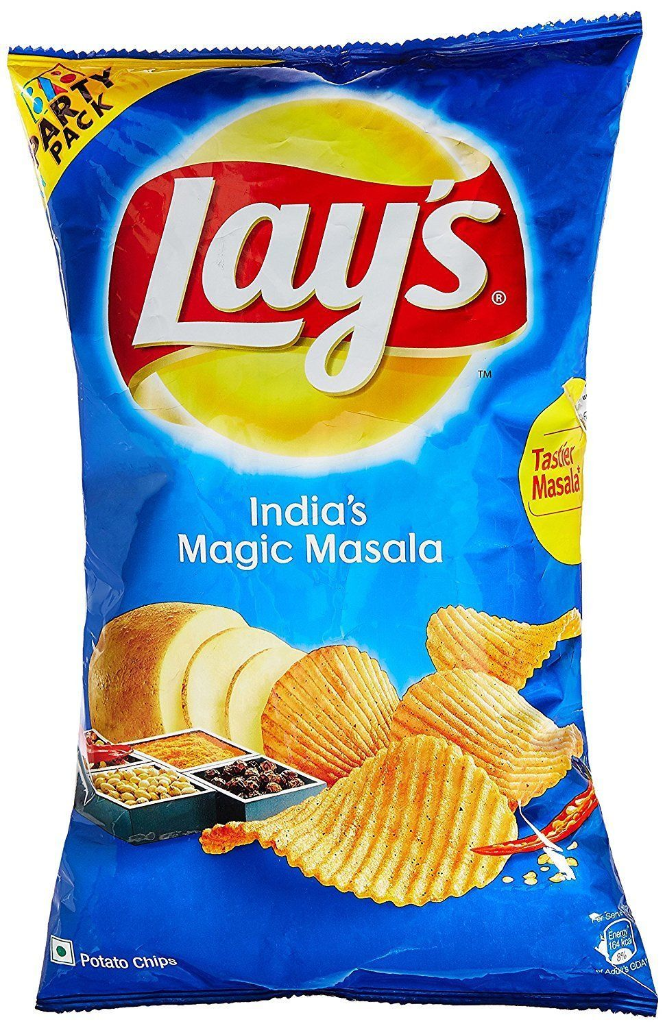Lays Lay's India's Magic Masala 177 grams Pack 6.25 oz Potato Chips Wafers Snack