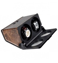 Time Tutelary High Quality Double Watch Winder Burlwood Effect - $72.93