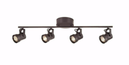 Hampton Bay Mountainbrook 2 ft. 4-Light Bronze Integrated LED Fixed Trac... - $84.14