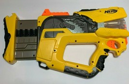 Nerf N-Strike Firefly Rev-8 Gun Blaster Yellow Gray 8 Dart Barrel 2005 Tested  - $17.95