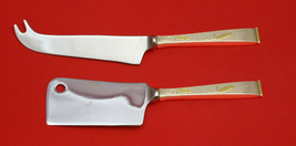 Golden Wheat By Gorham Sterling Silver Cheese Server Serving Set 2PC Hhws Custom - $119.00
