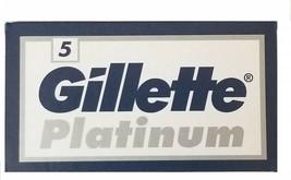 25 Gillette Platinum Double Edge Razor Blades Made in Russia - $6.75