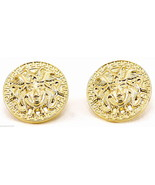 Medusa Earrings Small Size Pendant Head With Post New Egyptian Style - $11.99