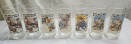 "Lot of 7 NORMAN ROCKWELL Arby's 6"" Saturday Evening Post Glasses from 19... - $33.55"