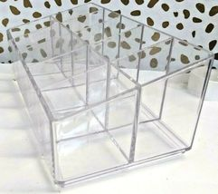 Made by Design Lucite Nail Center Makeup Organizer 2.9 inches high x 4 inches  image 5