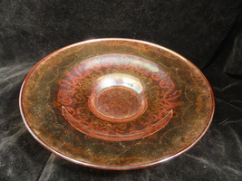 Vintage Iridescent Madrid Depression Glass Low Console Bowl USA - $19.99