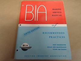 1977 Bia Marine Service Manuell von Empfohlen Üben 5th Auflage Manuell - $9.84