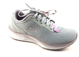 Skechers 13047 Grey/Lavender Air Cooled Memory Foam Lace Up Sneakers - $69.00