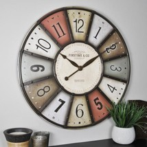 27 in. Color Motif Multicolor Wall Clock - $83.28